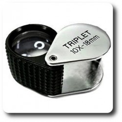 Loupe pliable Triplet 10x 18mm- Lens