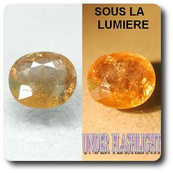 4.88 cts AXINITE (Fe) COULEUR CHANGEANTE . SI1 France