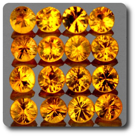 0.05 cts SAPHIR JAUNE . 2,20 MM. IF - VVS1 ( vendu à l'unité ) Ceylan, Sri Lanka