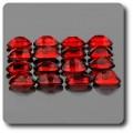0.56 cts GRENAT ROUGE. 6x4 MM . IF-VVS1 ( vendu à l'unité ) Afrique