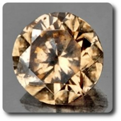 0.05 cts  DIAMANT CHAMPAGNE. IF Afrique