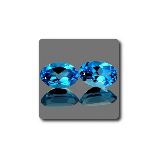 1.16 cts Lot de 2 TOPAZE BLEU SWISS .IF Brésil