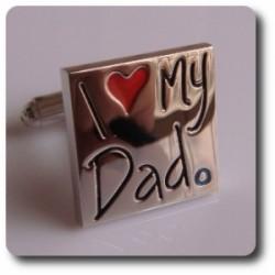 BOUTONS DE MANCHETTES I LOVE MY DAD