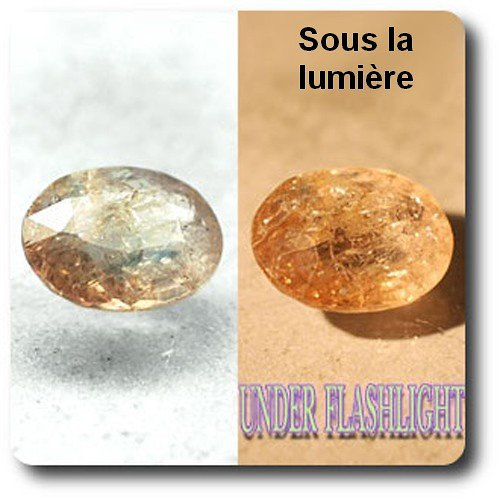 1.77 cts AXINITE (Fe) COULEUR CHANGEANTE . I1 France