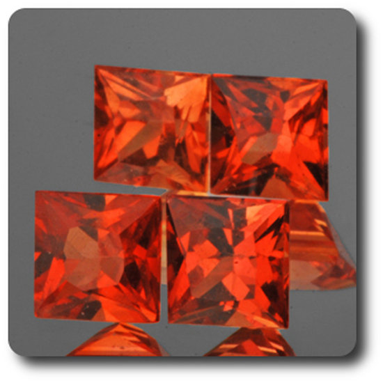 0.30 cts SAPHIR ORANGE . 3,50 MM. IF - VVS1 ( vendu à l'unité ) Ceylan, Sri Lanka