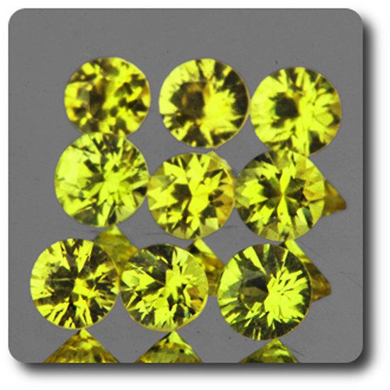 0.14 cts SAPHIR JAUNE . 2,90 - 3,20 MM. IF - VVS1 ( vendu à l'unité ) Ceylan, Sri Lanka