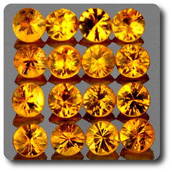 0.09 cts SAPHIR JAUNE . 2,60 MM. IF - VVS1 ( vendu à l'unité ) Ceylan, Sri Lanka