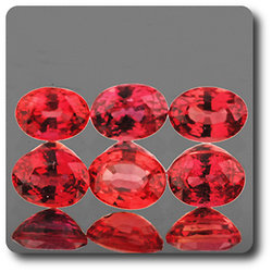 0.24 cts SAPHIR ORANGE ROUGE . 4 x 3 MM. IF - VVS1 ( vendu à l'unité ) Ceylan, Sri Lanka