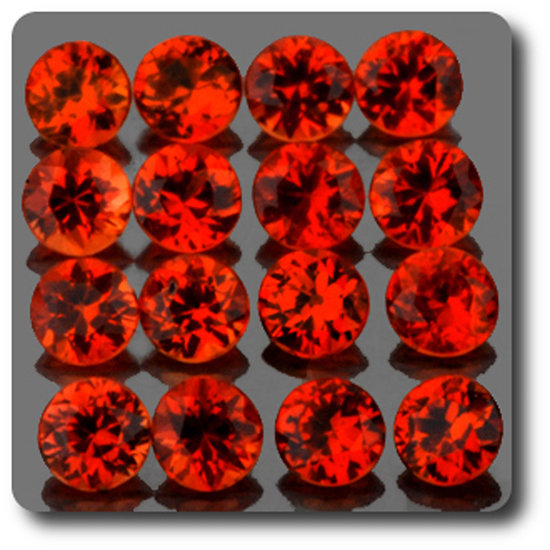 0.06 cts SAPHIR ORANGE . 2,30 MM. IF - VVS1 ( vendu à l'unité ) Ceylan, Sri Lanka