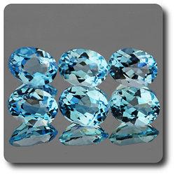 1.48 cts TOPAZE BLEU SKY BLUE. 8x6 MM. IF - VVS1 ( vendu à l'unité ) Brésil