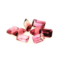2.35 cts LOT DE 8 TOURMALINE ROSE . IF - VVS1 Brésil