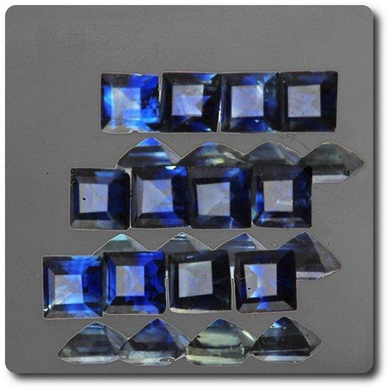 0.12 cts SAPHIR BLEU . 2,50 MM. IF - VVS1 ( vendu à l'unité ) Ceylan, Sri Lanka