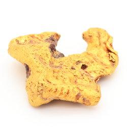 Pépite d'or . 4.39 g . Djado, désert du Ténéré, Niger, Afrique