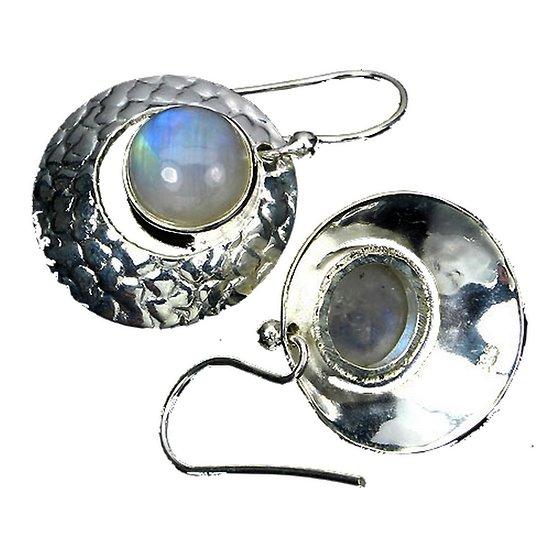 Boucles d'oreille Pierre de Lune Argent 925