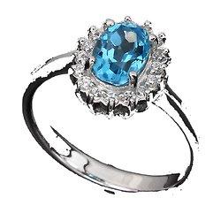 Bague Topaze bleu Argent 925