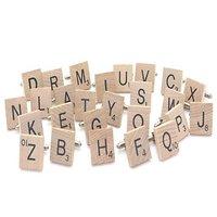 Boutons de manchette Lettre de Scrabble en bois ( vendu à l'unité ) choisissez 2 lettres de l'alphabet au choix