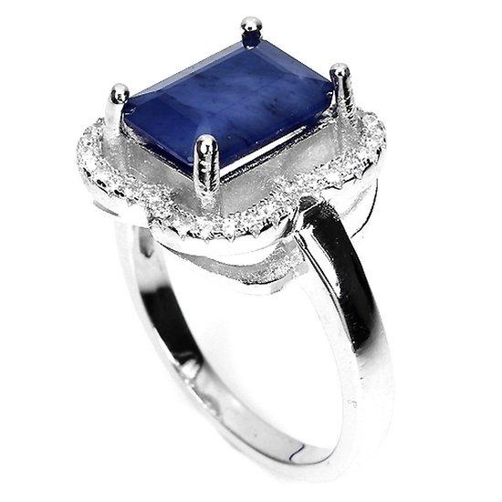 Bague Saphir bleu Argent 925