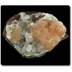 11.10 grammes CRISTAL D'OLMIITE & CALCITE N'Chwaning II Mine, Kuruman, Afrique du Sud
