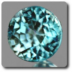 0.48 cts ZIRCON BLEU . IF Cambodge
