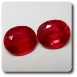 2.9 cts LOT DE 2 RUBIS ROUGE SANG .VS Madagascar