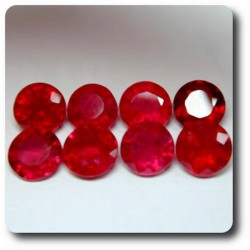 7.1 cts LOT DE 8 RUBIS ROUGE SANG .VS Madagascar