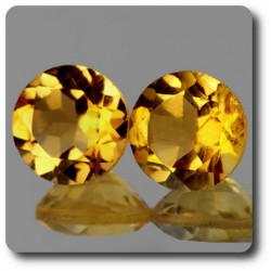 1.73 cts LOT DE 2 CITRINE JAUNE. IF Brésil