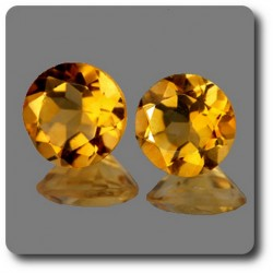 0.77 cts LOT DE 2 CITRINE JAUNE. IF Brésil
