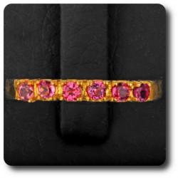 BAGUE TOURMALINE ROSE Argent 925 + Plaqué Or