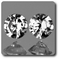 0.03 cts LOT DE 2 DIAMANT BLANC (F-G) . VS Afrique