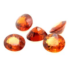 3.91 cts  5 GRENAT SPESSARTITE ORANGE. VVS Nigeria, Afrique