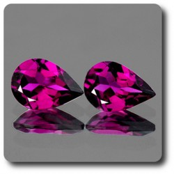 0.91 cts Lot de 2 GRENAT Rhodolite Rose. IF Afrique