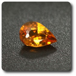 0.27 cts CLINOHUMITE ORANGE. IF Pakistan