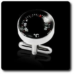 BOUTONS DE MANCHETTES Thermomètre