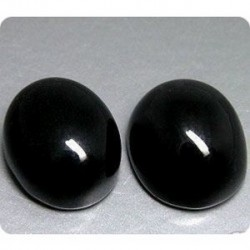 8.00 cts LOT DE 2 BLACK ONYX Thailande
