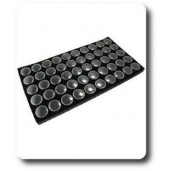 Plateau en mousse pour pierres + 50 Boîtes à Gemmes Noires