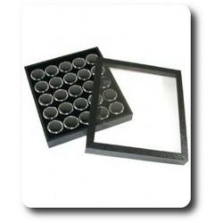 Coffret pour pierres + 25 Boîtes à Gemmes Noires