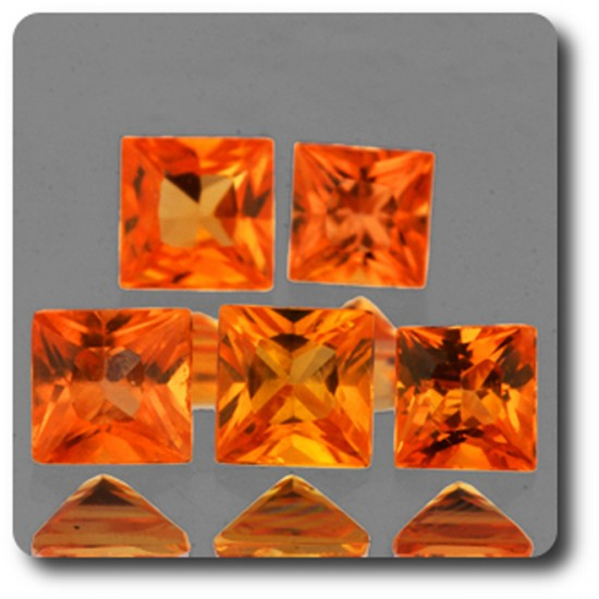 0.17 cts SAPHIR ORANGE . 3,10 MM. IF - VVS1 ( vendu à l'unité ) Ceylan, Sri Lanka