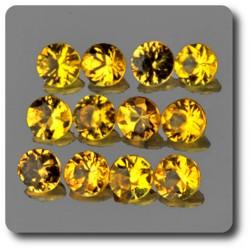 0.03 cts SAPHIR JAUNE . 1,90 MM. IF - VVS1 ( vendu à l'unité ) Ceylan, Sri Lanka