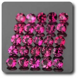 0.14 cts GRENAT Rhodolite Rose. 3 MM . IF-VVS1 ( vendu à l'unité ) Afrique