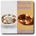0.96 cts AXINITE (Fe) COULEUR CHANGEANTE . VS1 France