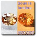 2.51 cts AXINITE (Fe) COULEUR CHANGEANTE . SI1 France