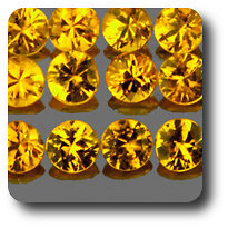 0.07 cts SAPHIR JAUNE . 2,50 MM. IF - VVS1 ( vendu à l'unité ) Ceylan, Sri Lanka
