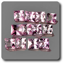 0.10 cts SAPHIR ROSE . 2,40 MM. IF - VVS1 ( vendu à l'unité ) Ceylan, Sri Lanka