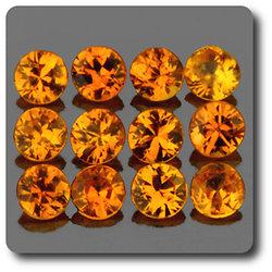 0.10 cts SAPHIR JAUNE . 2,70 MM. IF - VVS1 ( vendu à l'unité ) Ceylan, Sri Lanka