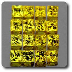 0.10 cts SAPHIR JAUNE . 2,50 MM. IF - VVS1 ( vendu à l'unité ) Ceylan, Sri Lanka