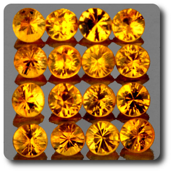 0.05 cts SAPHIR JAUNE . 2,10 MM. IF - VVS1 ( vendu à l'unité ) Ceylan, Sri Lanka