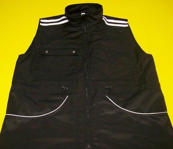 Gilet 040 droit bandes épaules, liseré poches, doublure filet