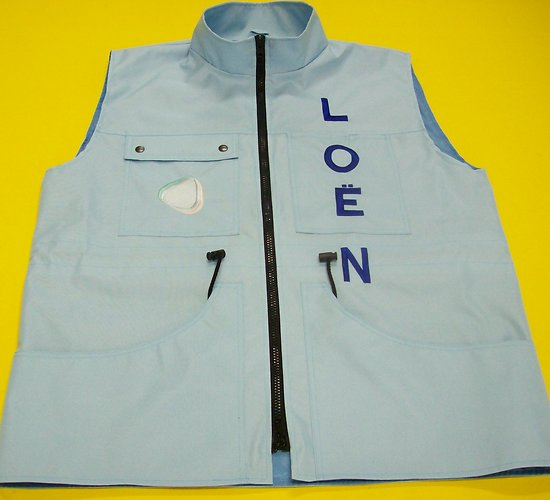 Gilet droit Uni Filet