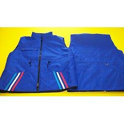 Gilet bandes tricolores poches Filet