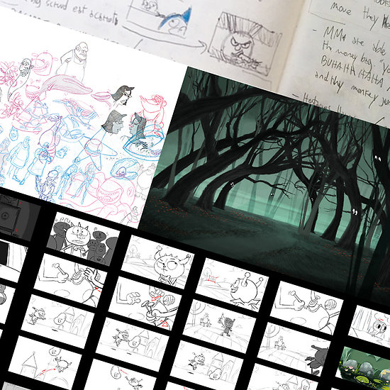 Cours online Story (création d'univers, storyboard)